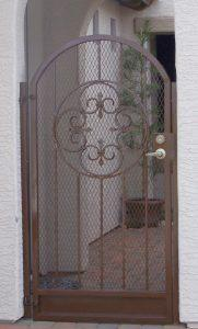 Ornamental Iron Gates with Scroll Work