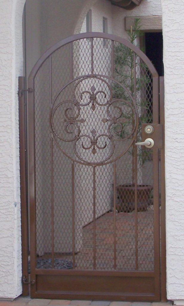 Ornamental Iron Gate with Scroll Work
