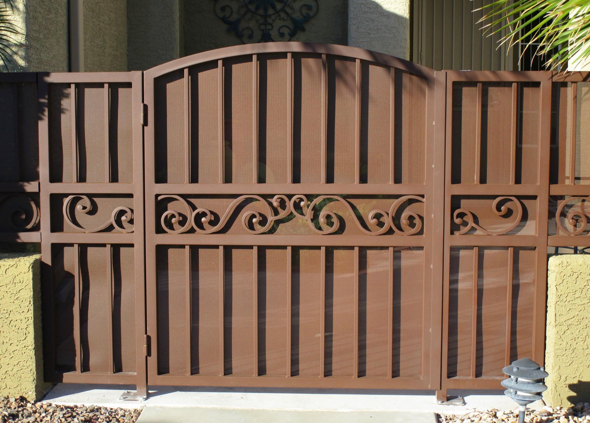 Ornamental iron gates · affordable fence
