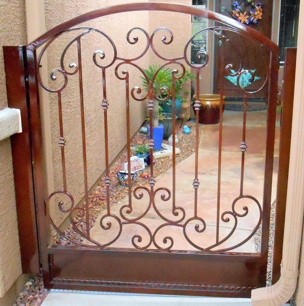 Custom-Ornamental-Iron-Gate-Scrolls-Tuscan-Powder Coated
