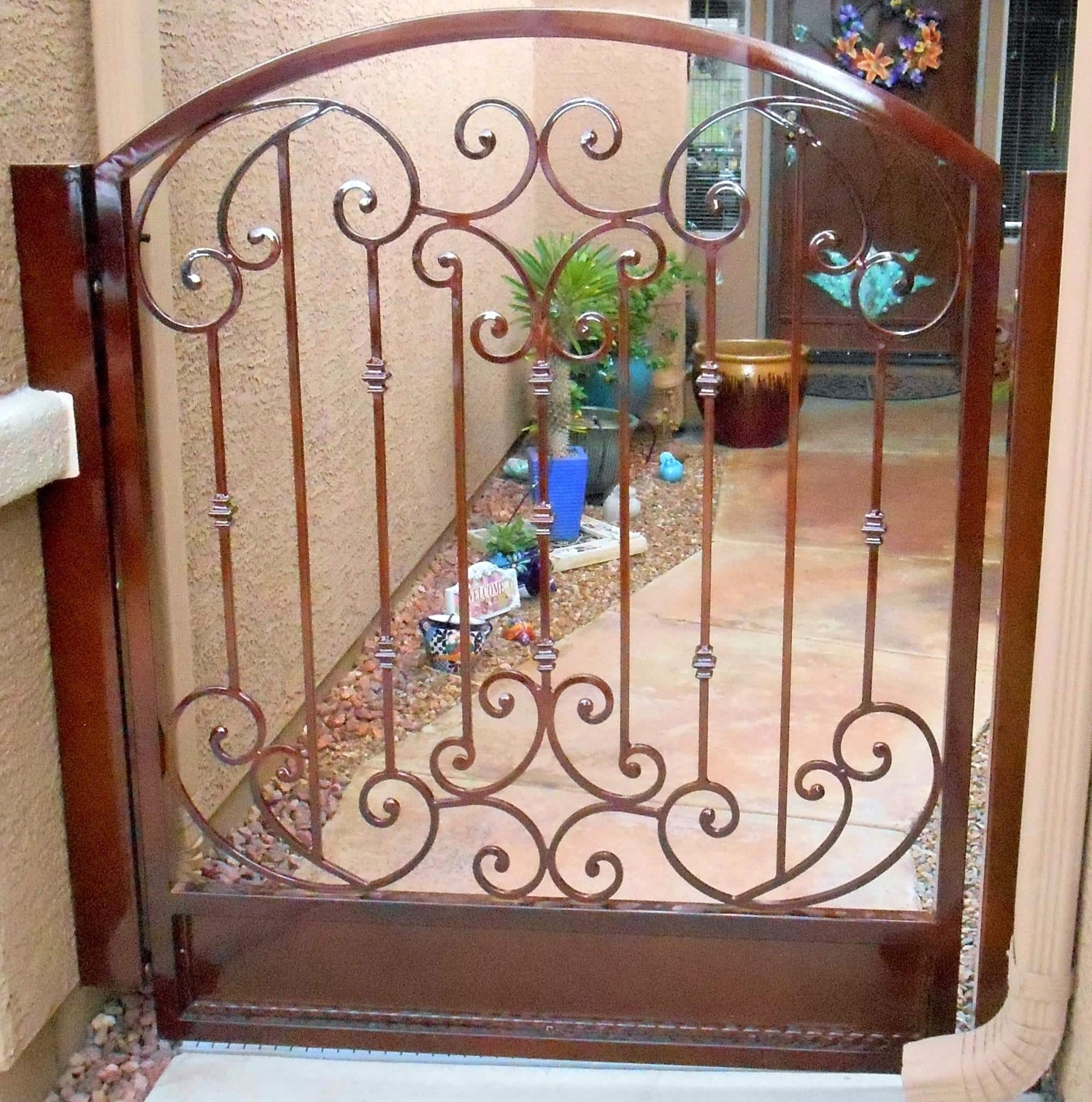 Custom-Ornamental-Iron-Gate-Scrolls-Tuscan-Powder Coated
