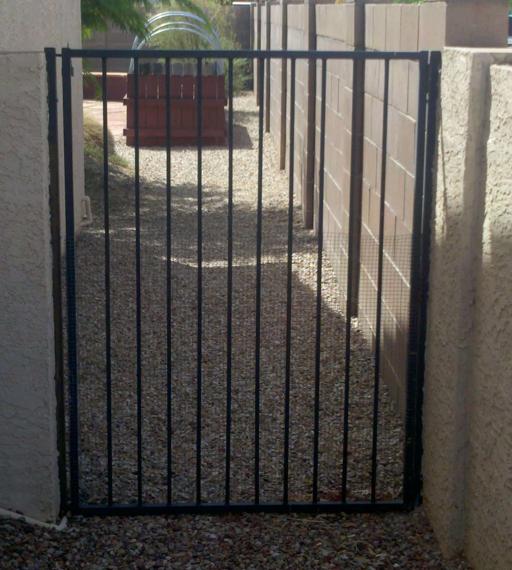 Simple wrought iron garden gate IG018 Made in Tucson