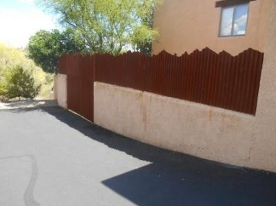 Corrugated Steel Fence with Mountain Top Design | CF237-3