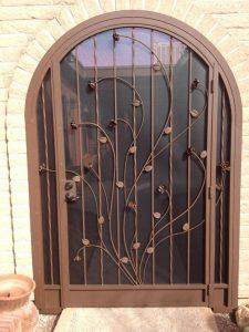 Arched top porch enclosure floral motif 6000 E (3) - Installed in Tucson