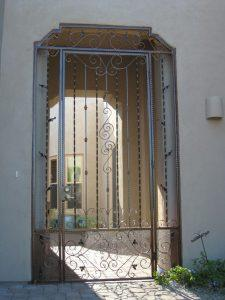 Patio enclosure with decorative swirls and knuckles 5002 E - Made in Tucson