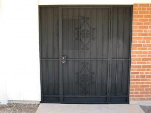 Porch enclosure and security door 5003 E - Made in Tucson