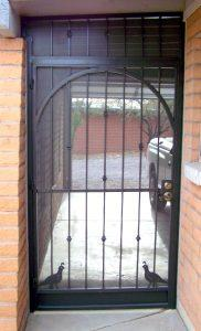 Porch security enclosure with quails 6008 E - Designed and installed in Tucson