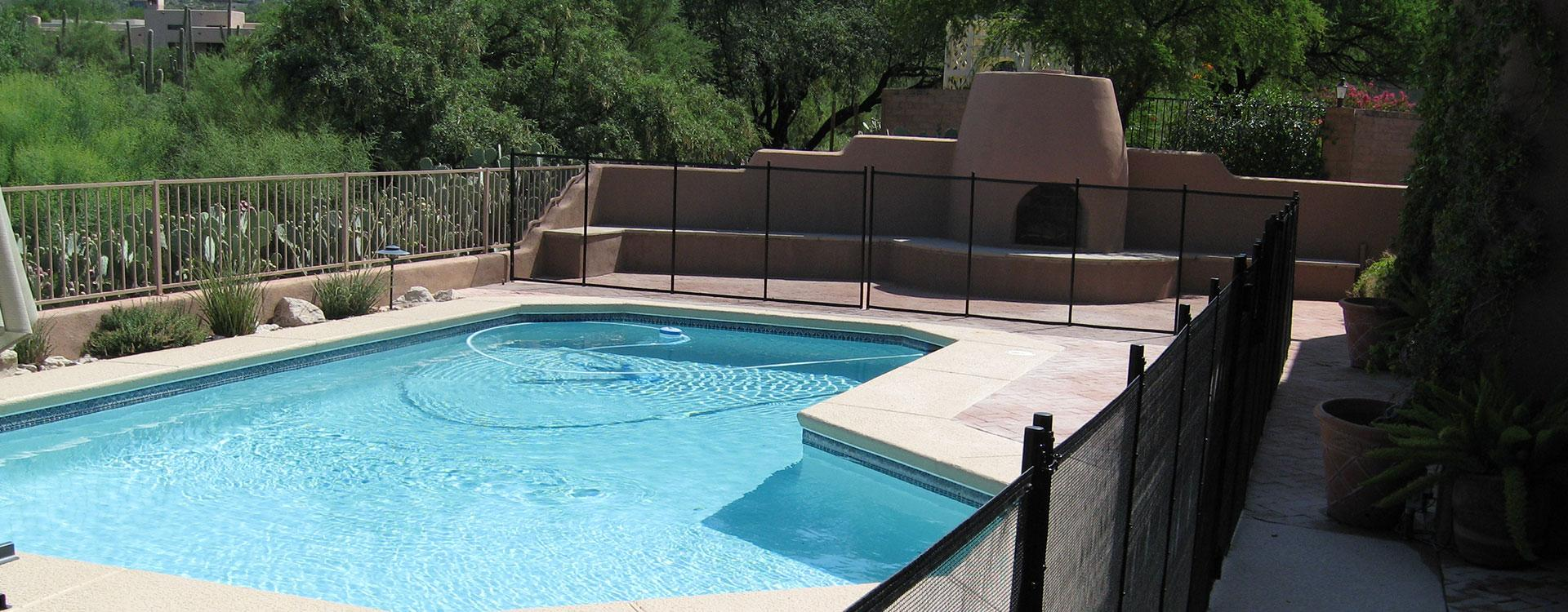 Removable Mesh Pool Fence - Partial Perimeter