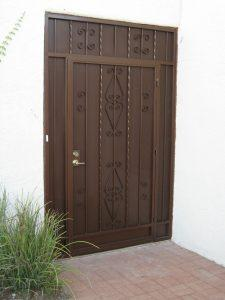 Security door and enclosure 5001 E - Made in Tucson