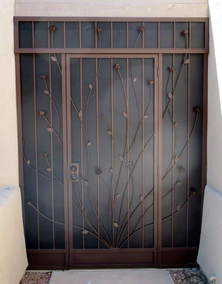 Security door with flower motif 6000 4 E - Built in Tucson