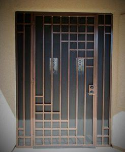 Security door with geometric motifs 5005 E - Built in Tucson