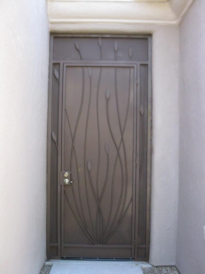 Security door with ocotillo motif 6004 E - Made in Tucson