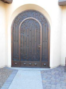 Security enclosure with with scroll arch 7001 E - Installed in Tucson