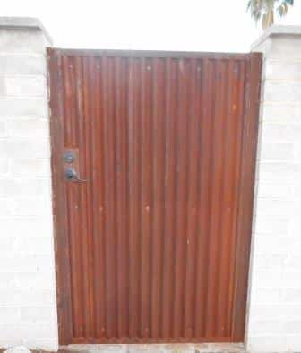Corrugated Steel Gate Cg110 Affordable Fence And Gates