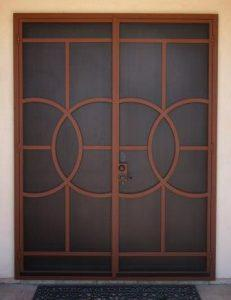 Security Door | Double Security Door | Security Door with Abstract Design