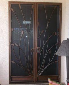 Security Door | Ornamental Iron Security Door | Security Door with Southwest Design