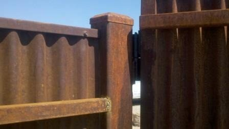 Corrugated Steel Fence | CF223