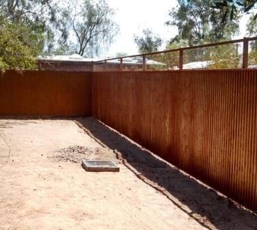 Corrugated Steel Fence | CF236-2