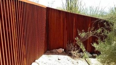 Corrugated Steel Fence | CF238