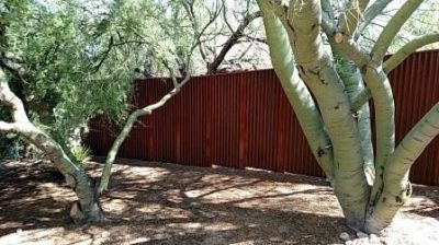 Corrugated Steel Fence | CF239
