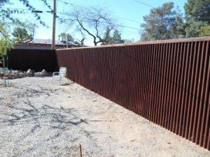 Corrugated Steel Fence | Rusted Metal Fence