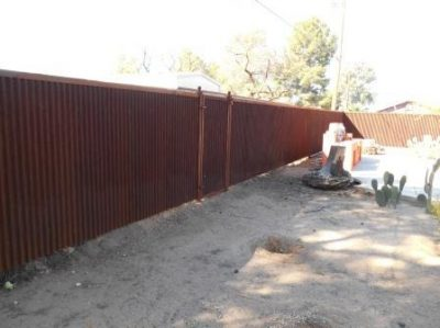 Corrugated Steel Fence with Gate | CF240