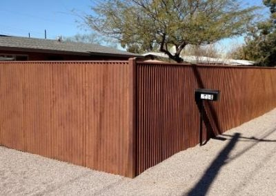Corrugated Steel Fence | CF242