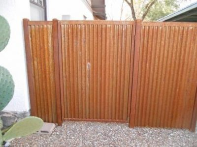 Corrugated Steel Fence | CF244