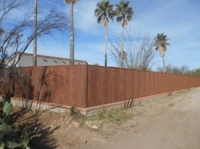 Corrugated Steel Fence | CF245
