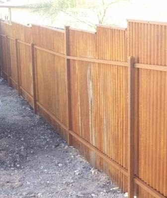 Corrugated Steel Fence | CF248