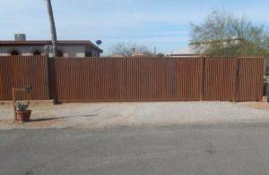 Corrugated Steel Fence | Metal Fence | Rusted Corrugated Metal Fence