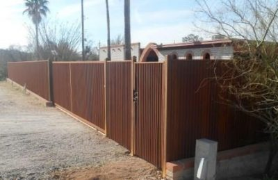 Corrugated Steel Fence | CF249