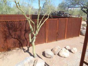 Corrugated Steel Fence | Metal Fence | Rusted Metal Fence