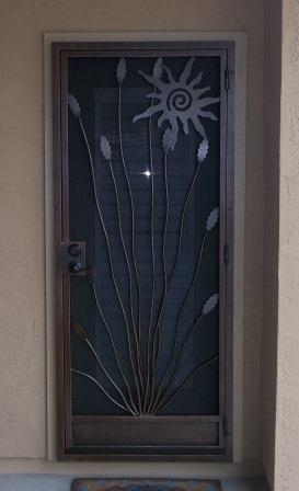 Security Door | Ornamental Iron Security Door | Security Door with Southwest Design