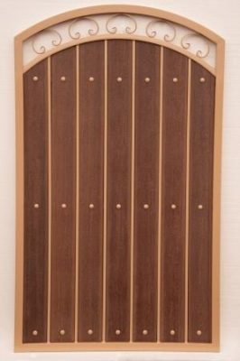 Iron and Synthetic Wood Gate | WG8009