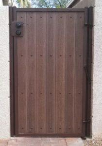 Iron and Synthetic Wood Gate | Steel and Wood Gate
