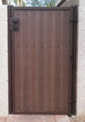 Iron and Synthetic Wood Gate | WG8010- 2
