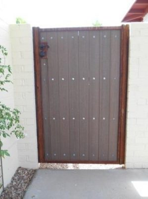 Iron and Synthetic Wood Gate | WG8010- 4