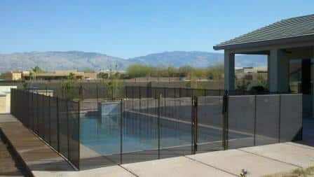 Rectangular removable mesh pool fence RM122