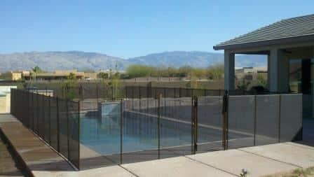 Rectangular removable mesh pool fence RM122