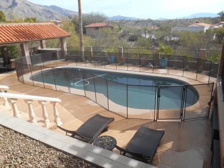 Large Removable Mesh Pool Fence - Bean shaped - RM 121