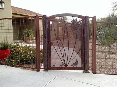 Iron Fence with Wire Panels IF 600