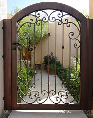 Security gate for garden and street entrance. Made in Tucson, AZ By Affordable Fence and Gates