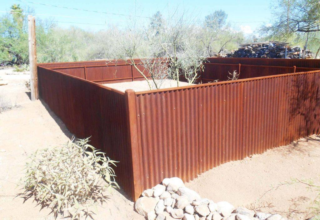 Corrugated And Trellis Style Steel Fence Affordable