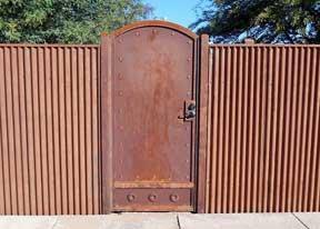 Corrugated Steel Gates