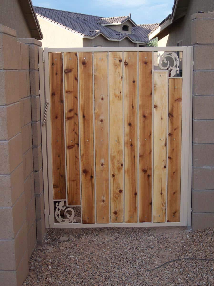 Iron Synthetic Wood Gates Affordable Fence And Gates