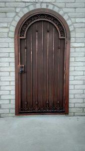Security door with scroll arch 20180604 055048448 - Made in Tucson