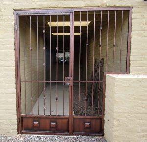 Security enclosure for entry way 0435 - Installed in Tucson
