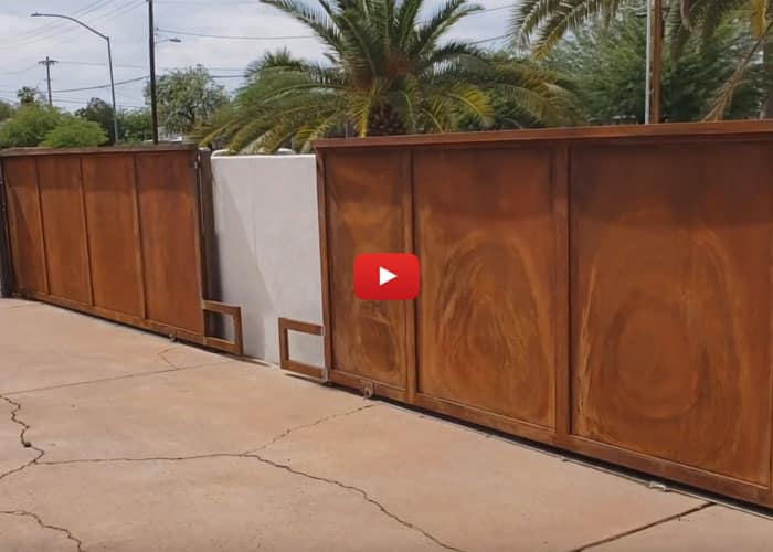 Driveway gates (roll gates) Alvernon and 5th St Tucson - Affordable Fence and Gates