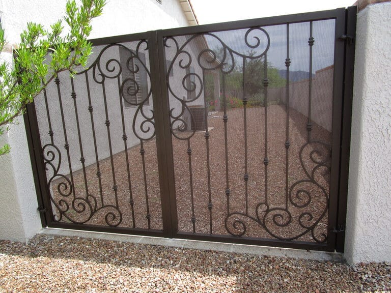 wrought iron gate in Tucson
